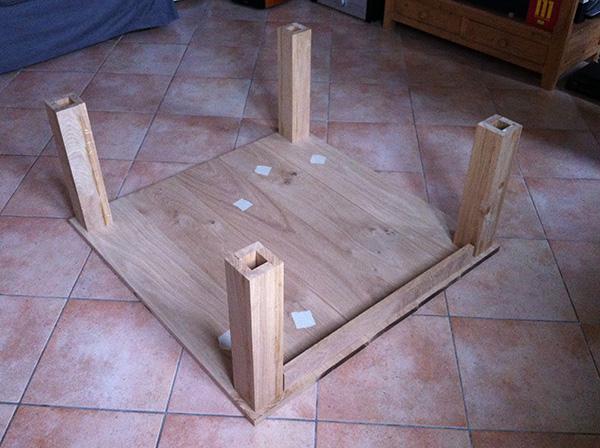 Réalisation dune table de salon en chêne massif (15  ~ Travailler Le Bois