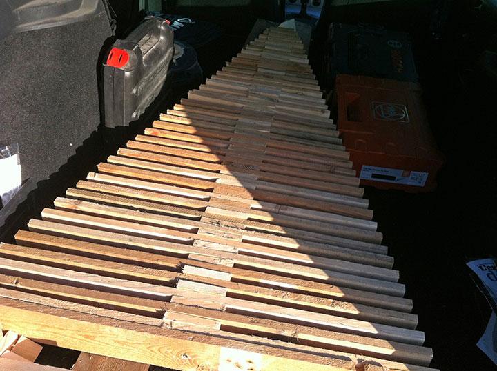 Un sapin de no l en bois de palette - Sapin de noel original en bois ...