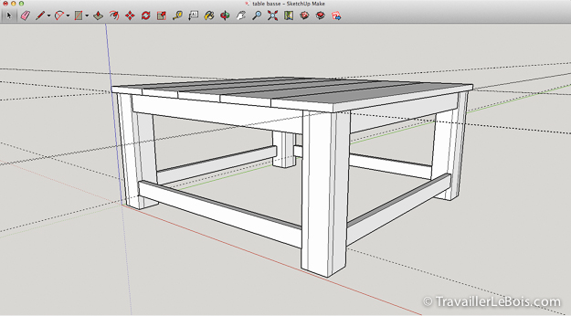 utiliser le logiciel sketchup pour la menuiserie. Black Bedroom Furniture Sets. Home Design Ideas