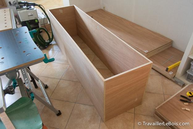 Fabrication d 39 un placard copain des copeaux - Fabriquer un caisson en bois ...