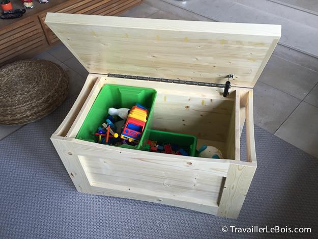 Coffre jouets coffre jouet swithome domi blanc fuchsia - Coffre a jouet personnalise ...