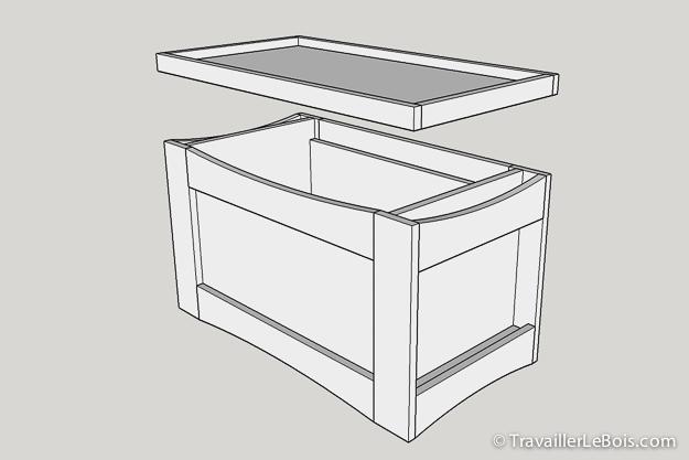 fabrication d 39 un coffre jouets en bois travailler le bois. Black Bedroom Furniture Sets. Home Design Ideas