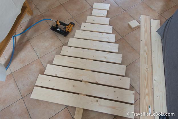 Un sapin de no l en bois r alis en moins de 2h - Sapin de noel original en bois ...