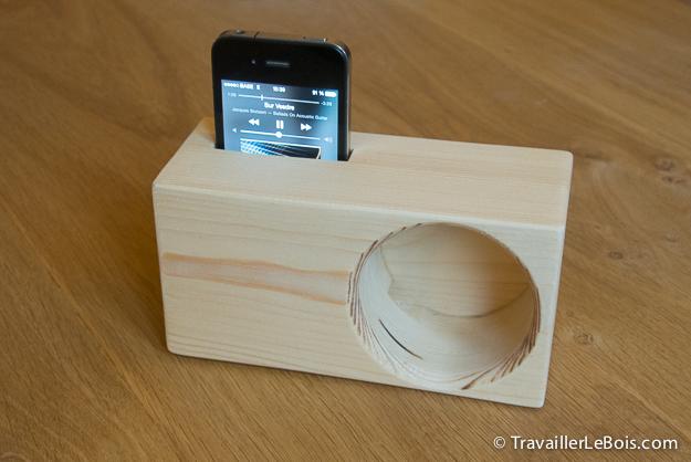 Un amplificateur de son pour smartphone travailler le bois - Objets pratiques et astucieux ...