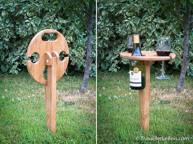 table de defonceuse  Une table pliante pour apéro piquenique -> Fabrication DUne Table Pliante