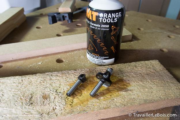 Produit pour nettoyer fraise de défonceuse CMT Orange Formula 2050