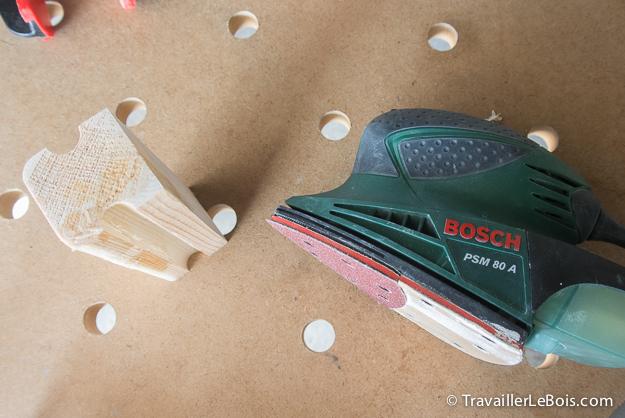 Poncer morceau de bois ponceuse vibrante Bosch PSM 80 A