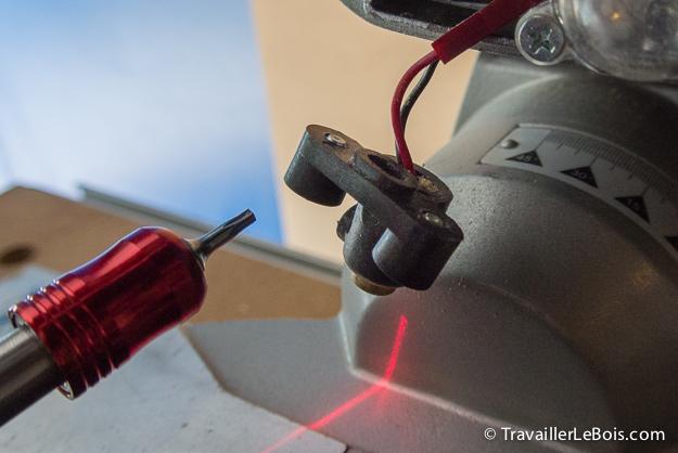 Réglage laser Metabo KGS 216 M