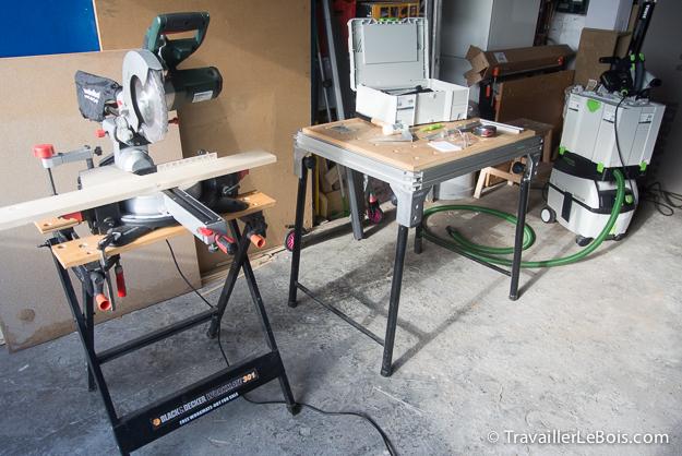 Poste de travail travail du bois