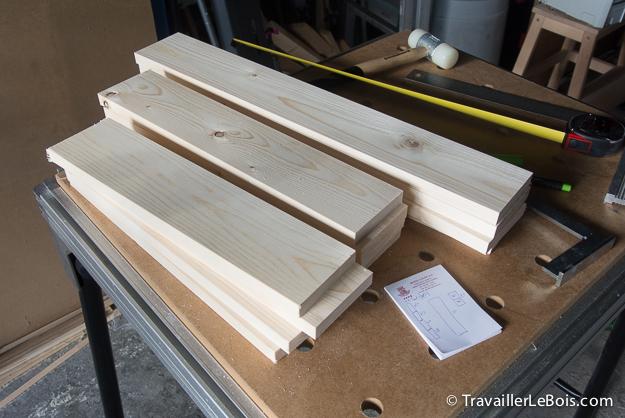 Planche de bois en sapin