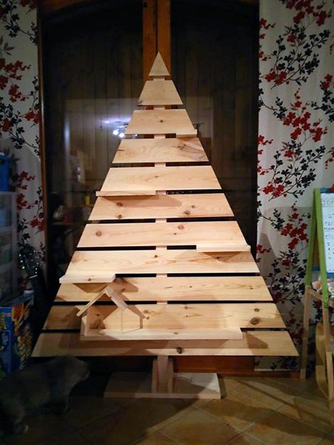 Sapin de Nöel DIY en bois