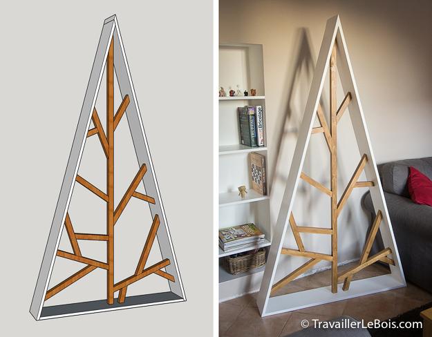 Sapin de Noël en bois design
