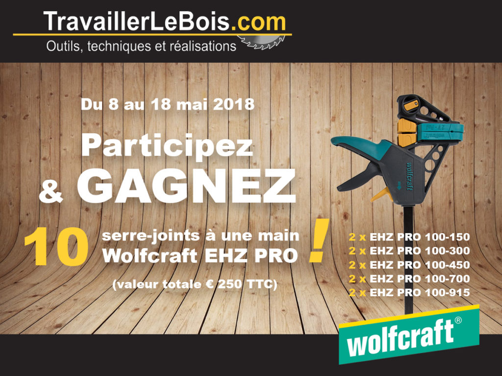 Concours serre-joints Wolfcraft EHZ PRO