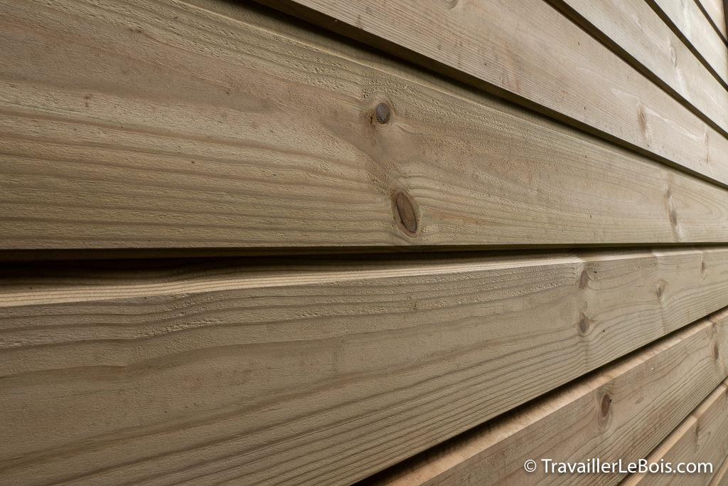 Bardage atelier en bois en sapin rouge du nord