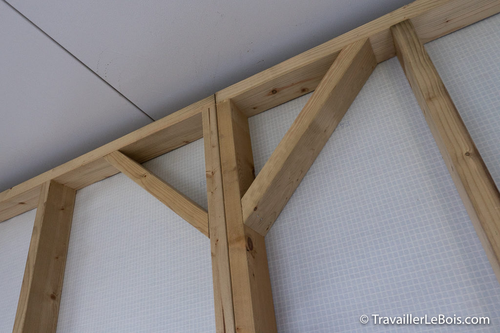 Ossature atelier en bois en sapin rouge du nord