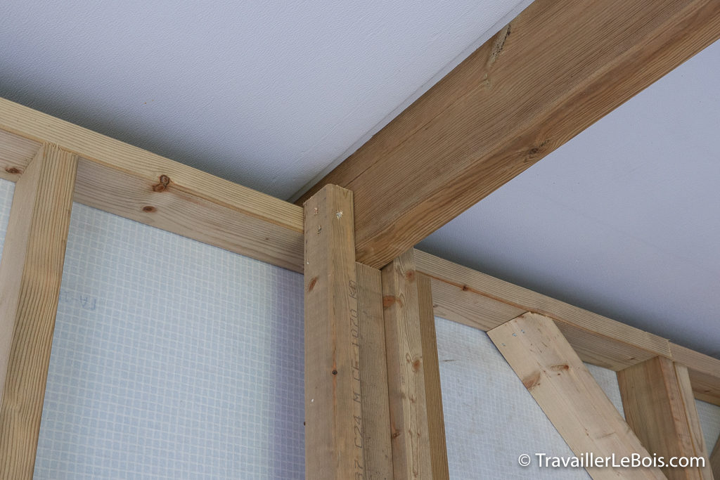 Renfort ossature atelier bois