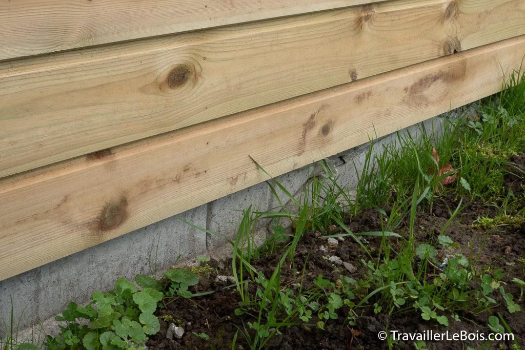 Fondations béton atelier en bois