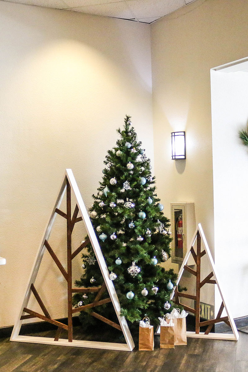 Sapin de Noël design en bois