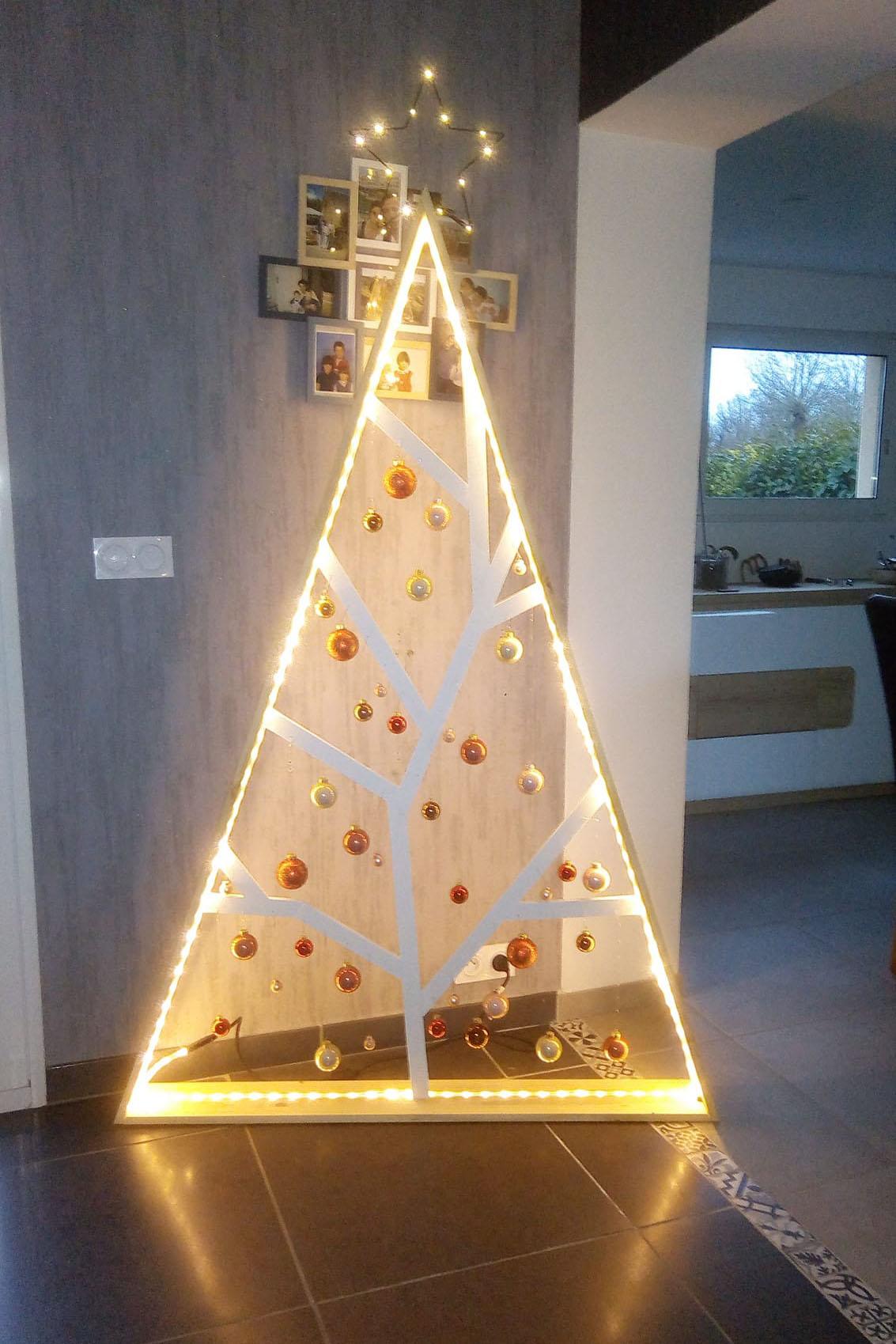 Sapin de Noël design en bois Jérôme