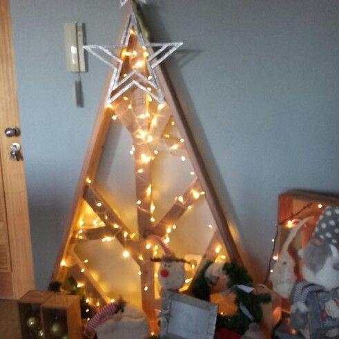 Sapin de Noël design en bois Telma