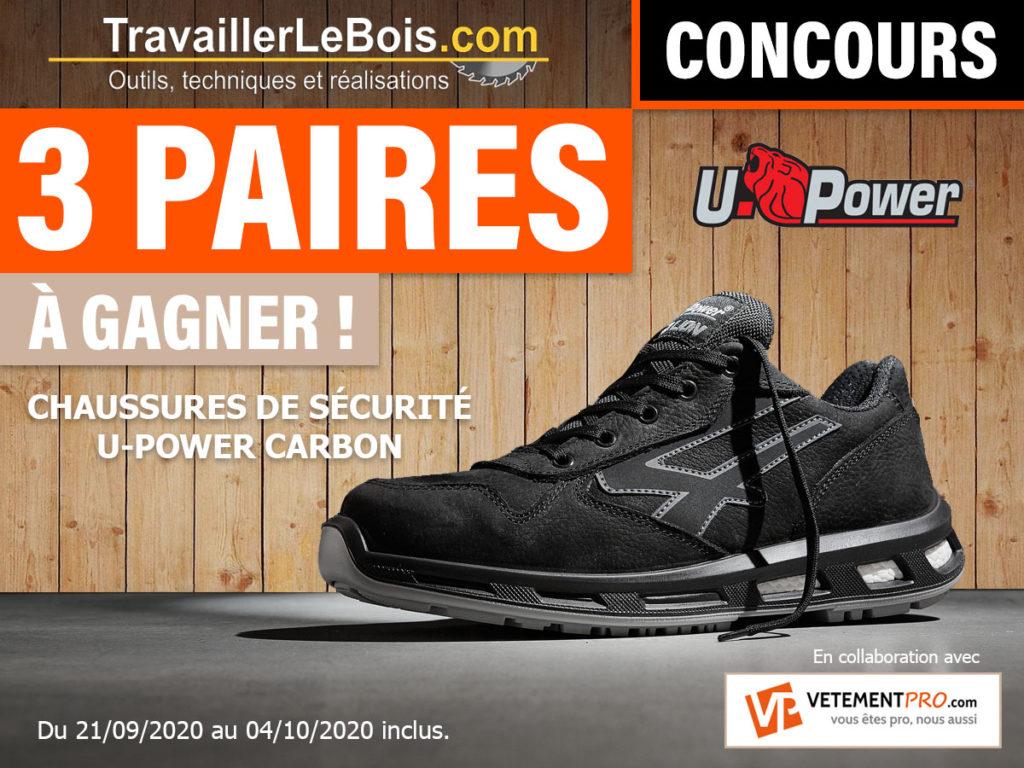 Concours chaussures sécurite U-Power carbon Vetementpro.com